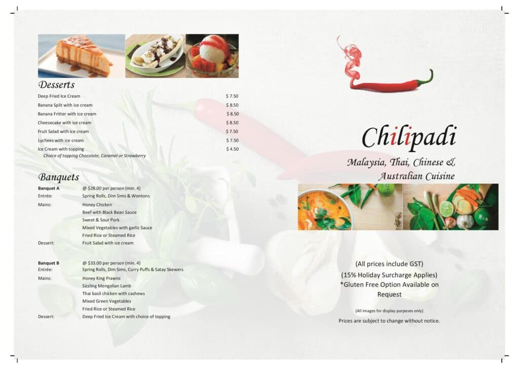 CHILIPADI - Bistro - Lawn Bowls Club - Teralba Bowling Club